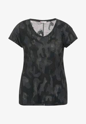 IN BURNOUT OPTIK - Print T-shirt - grau