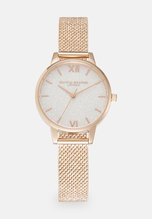 GLITTER DIAL - Watch - roségold-coloured/white