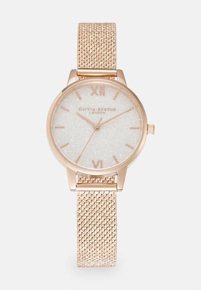 GLITTER DIAL - Klocka - roségold-coloured/white
