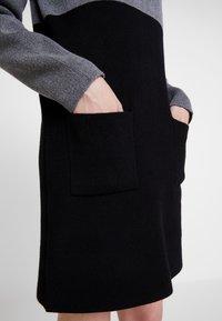 Morgan - Strikket kjole - noir/gris - 5