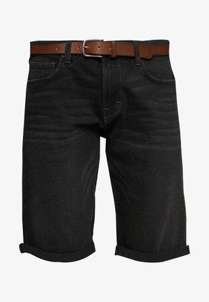 Denim shorts - black medium wash