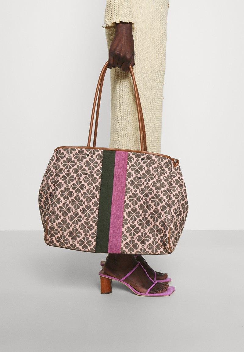 kate spade new york - EVREYTHING SPADE LARGE TOTE - Tote bag - pink multi
