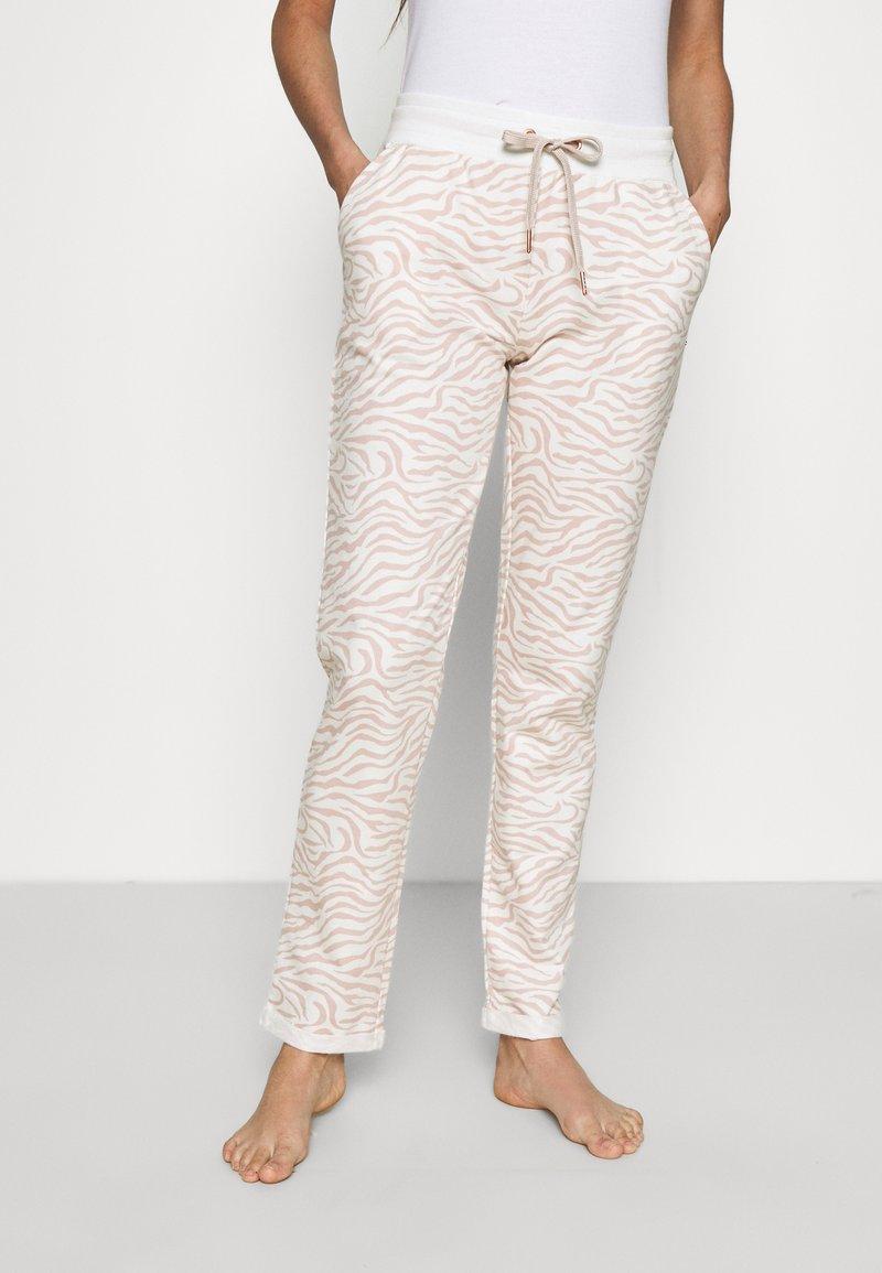 LASCANA - PANTS - Pyjama bottoms - nougat zebra