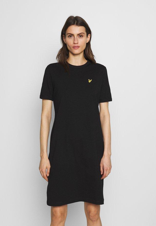 DRESS - Jerseyklänning - jet black
