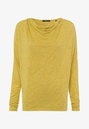 Long sleeved top - light mustard melange