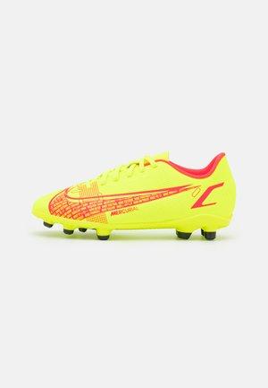 MERCURIAL JR VAPOR 14 CLUB FG/MG UNISEX - Chaussures de foot à crampons - volt/bright crimson