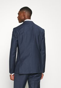 Calvin Klein Tailored - STRETCH SMALL GRID SUIT - Trousers - blue - 3