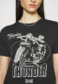 Gina Tricot - IDA TEE - Camiseta estampada - offblack - 5