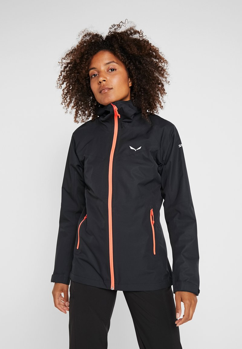 Salewa - AQUA - Hardshell jacket - black out