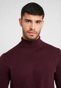 Burton Menswear London - CORE ROLL - Jumper - burgundy - 4