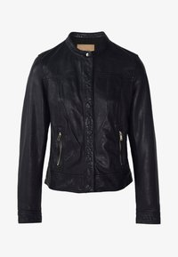 Massimo Dutti - Leather jacket - dark blue