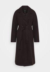 Vero Moda Petite - VMMERLEMAY LONG PETITE - Classic coat - chocolate plum - 5