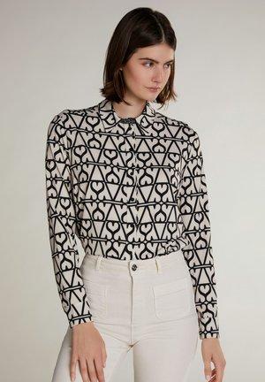 Button-down blouse - white black