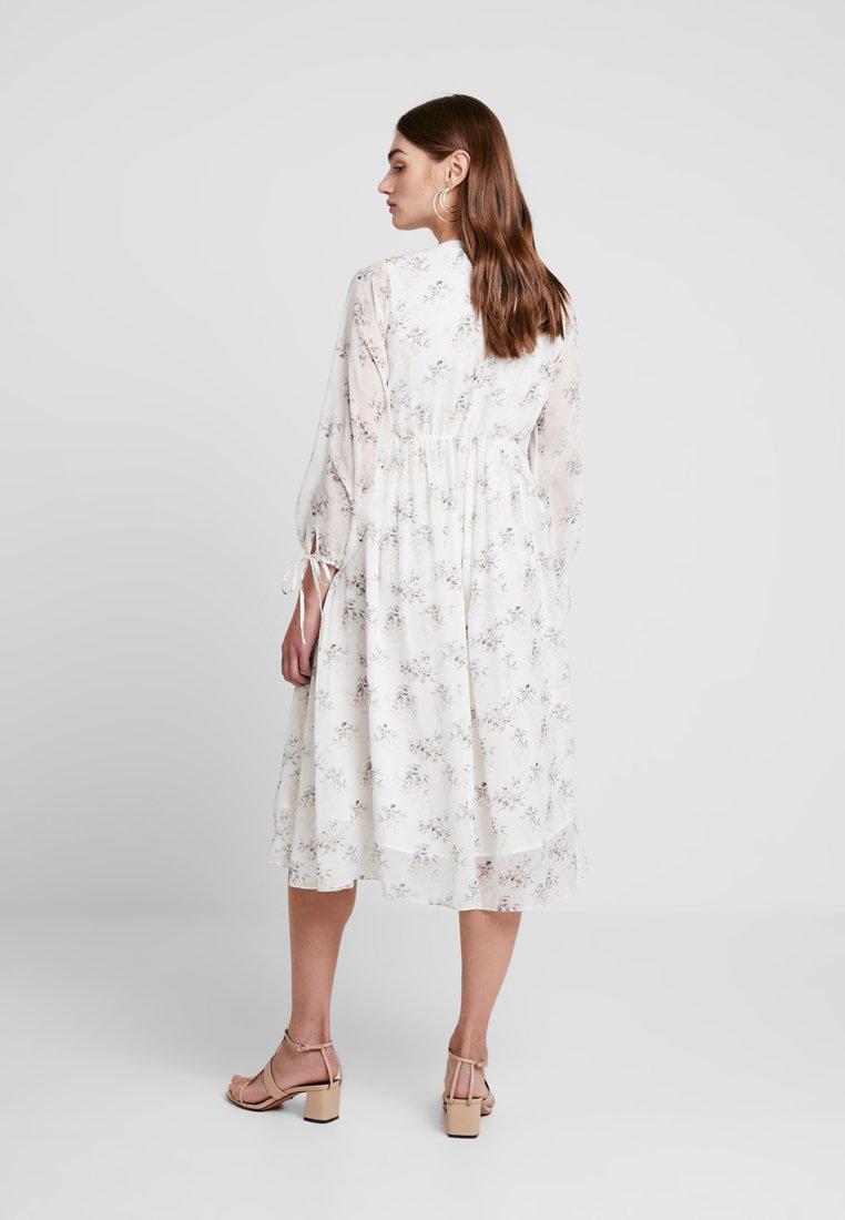 na-kd kae sutherland floral deep v neck dress