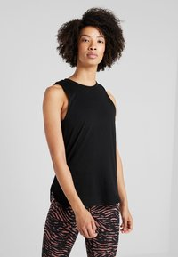 Cotton On Body - ACTIVE CURVE HEM TANK - Top - black - 0