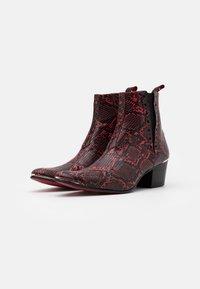 Jeffery West - VEGAN MURPHY CHELSEA - Cowboy/biker ankle boot - red - 1