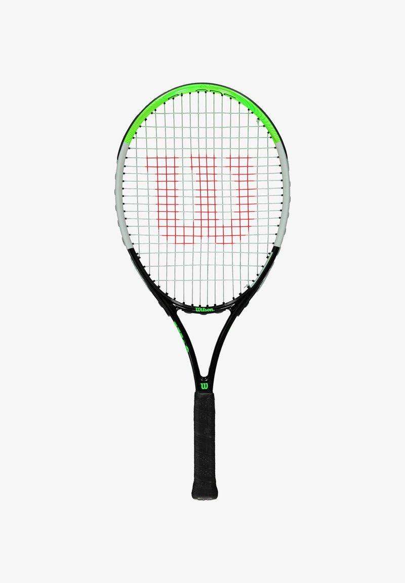 Wilson - BLADE FEEL BESAITET - Tennis racket - schwarz/grün