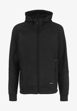 TEAMCUP CASUALS - Sweat à capuche zippé - black