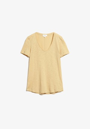 FLORAA - Basic T-shirt - creamy honey