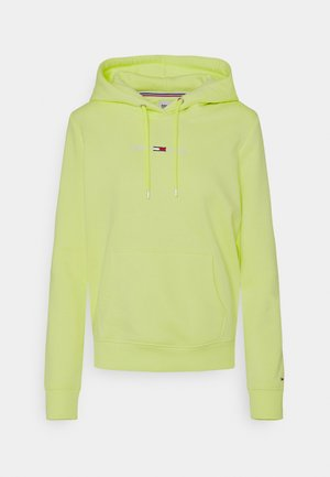 LINEAR LOGO HOODIE - Hoodie - faded lime