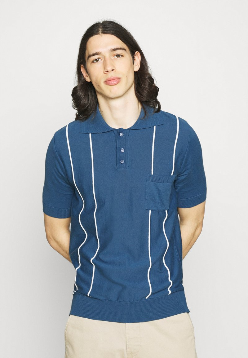Far Afield - ALFARO - Polo shirt - ensign blue/white sand