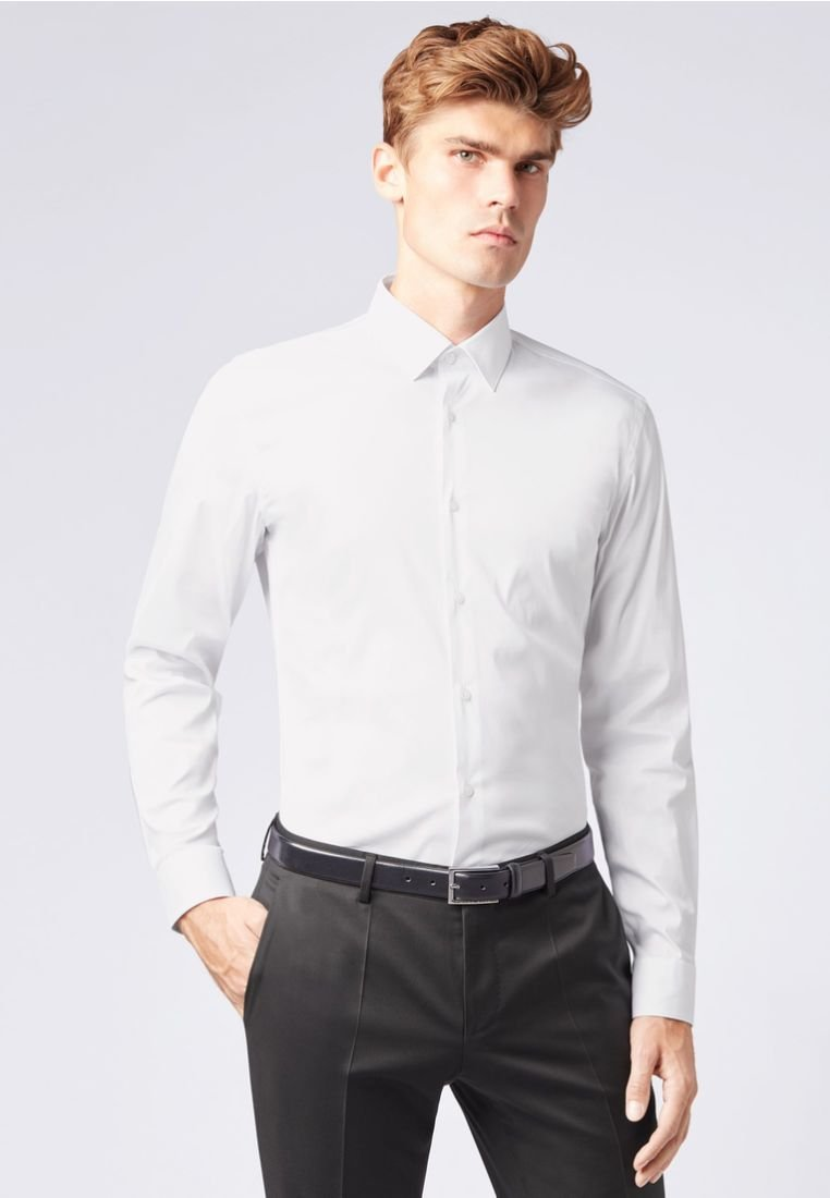BOSS - ISKO SLIM FIT - Businesshemd - white