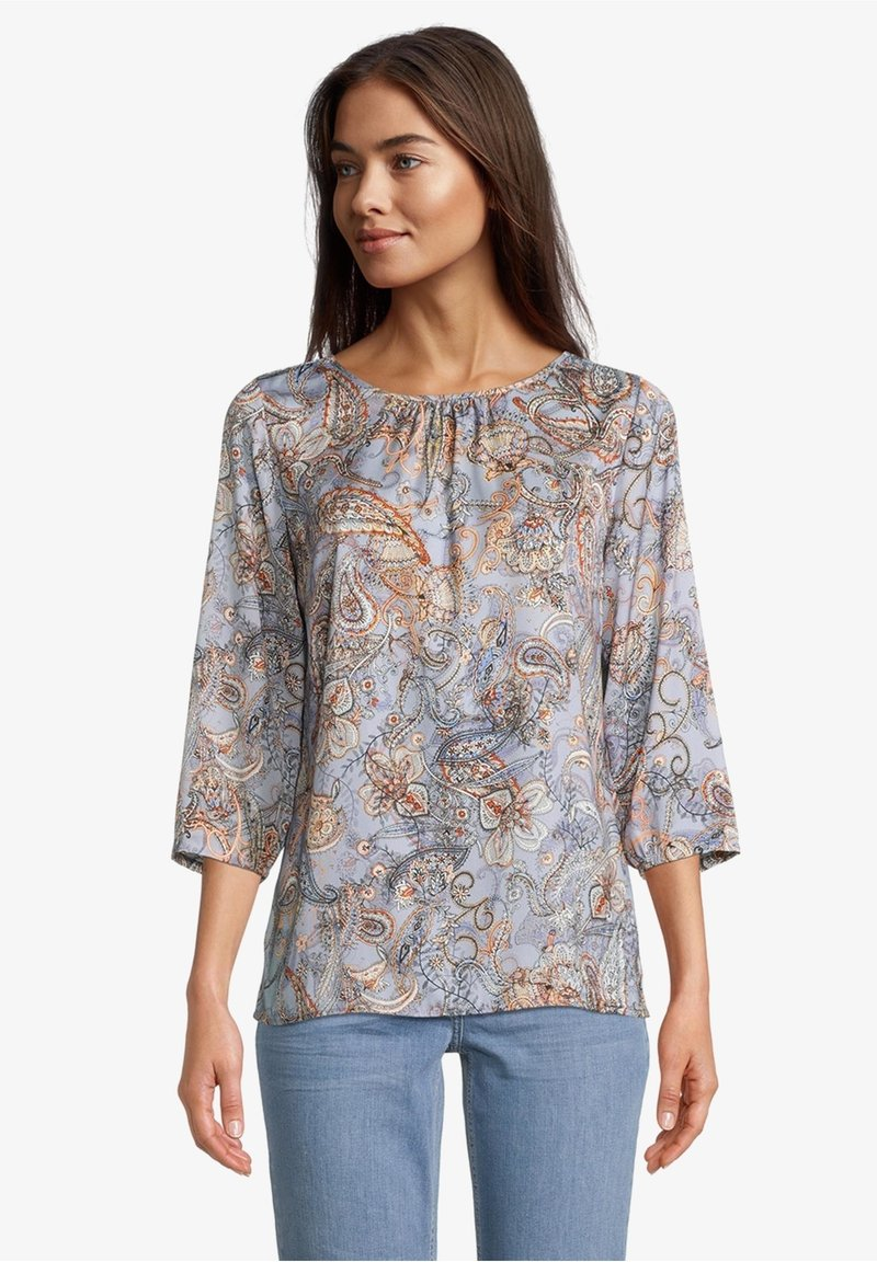 Betty Barclay - MIT MUSTER - Blouse - blue/orange