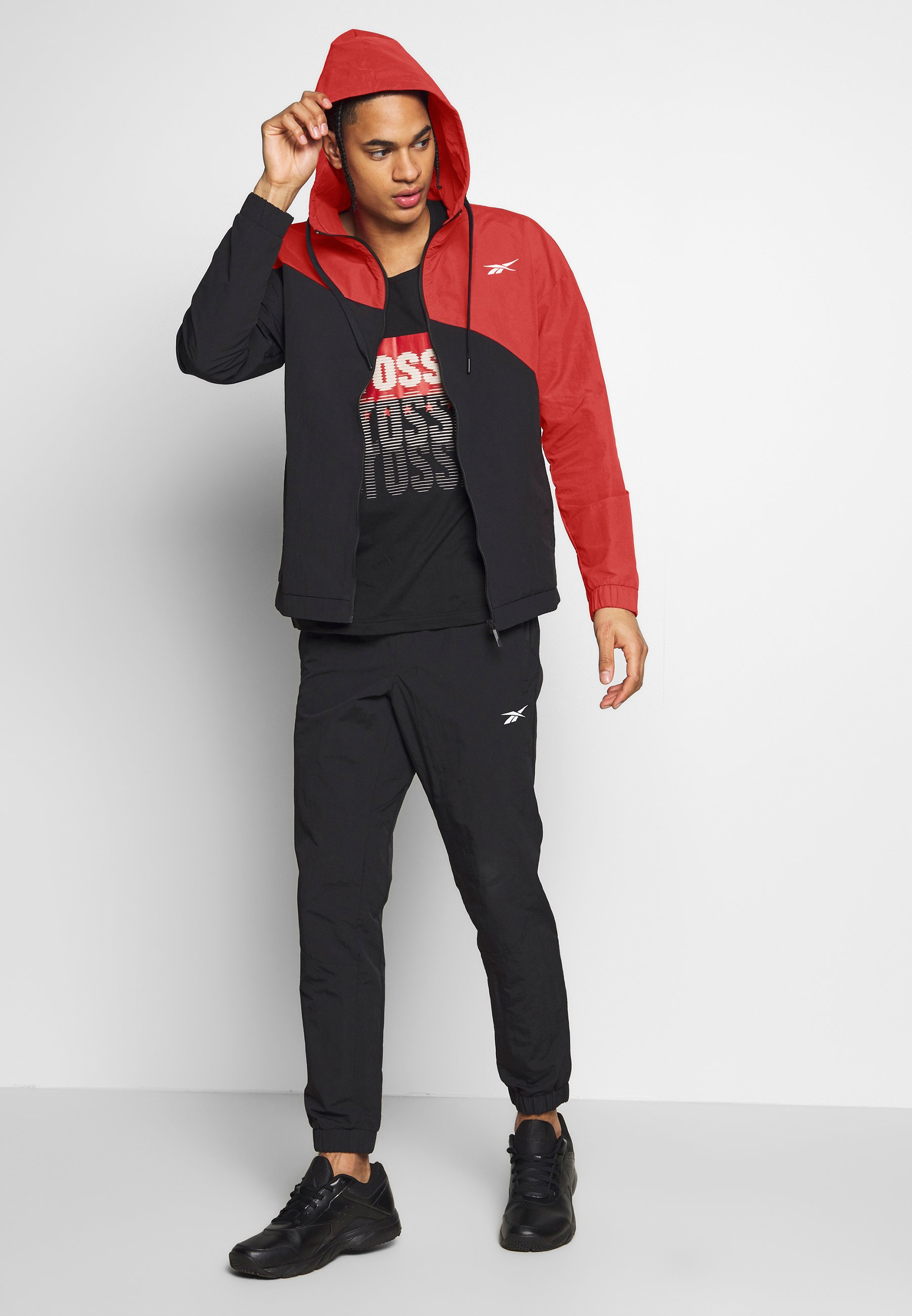 Reebok TRACKSUIT - Survêtement - red/black