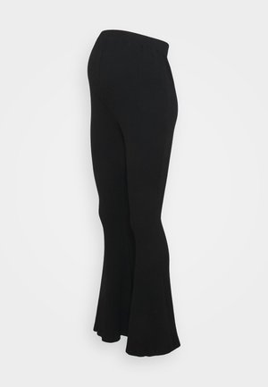 LADIES FLARES - Pantalones - black