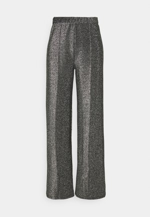 PCRINA WIDE PANT  - Trousers - silver