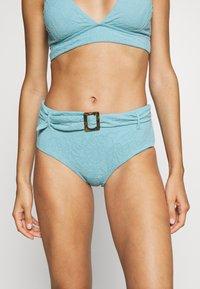 Seafolly - PALMCOASTWIDE SIDE RETRO - Bikini bottoms - nileblue - 0