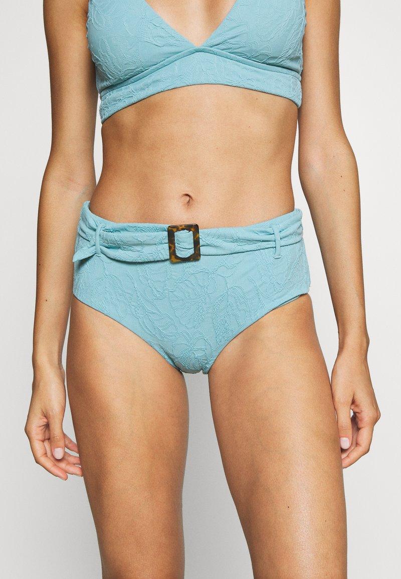 Seafolly - PALMCOASTWIDE SIDE RETRO - Bikini bottoms - nileblue
