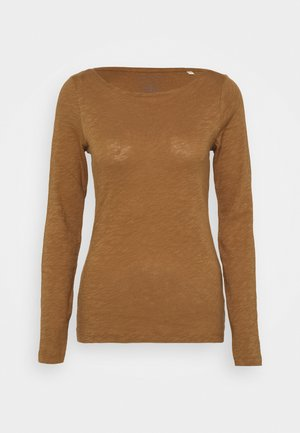 Long sleeved top - deep tobacco