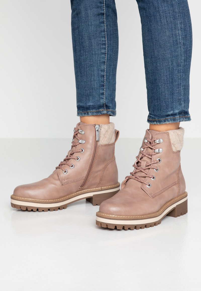 Tamaris - Lace-up ankle boots - rose