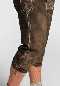Spieth & Wensky - OTTFRIED - Leather trousers - brown - 4