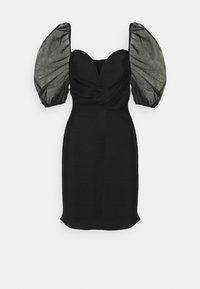 Missguided Tall - RUCHED MILKMAID BANDAGE DRESS - Robe de soirée - black - 0