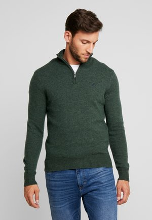 Strikpullover /Striktrøjer - mottled dark green
