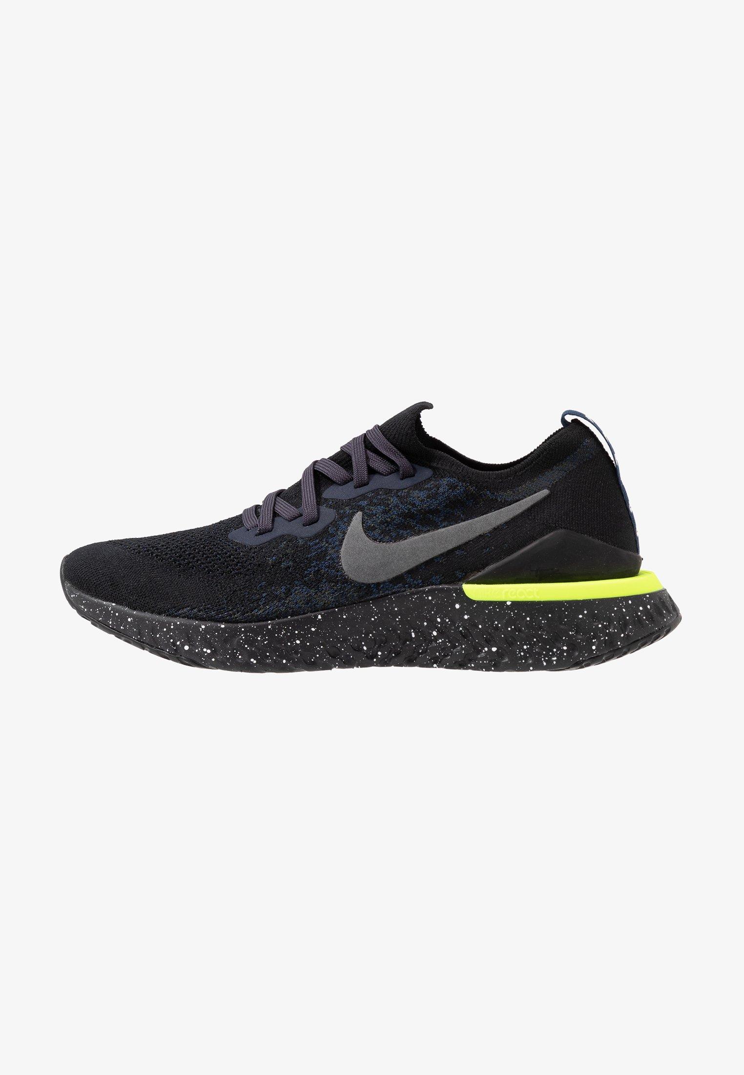 referir sugerir reacción  Nike Performance EPIC REACT FLYKNIT 2 SE - Zapatillas de running neutras -  black/sequoia/summit white/negro - Zalando.es