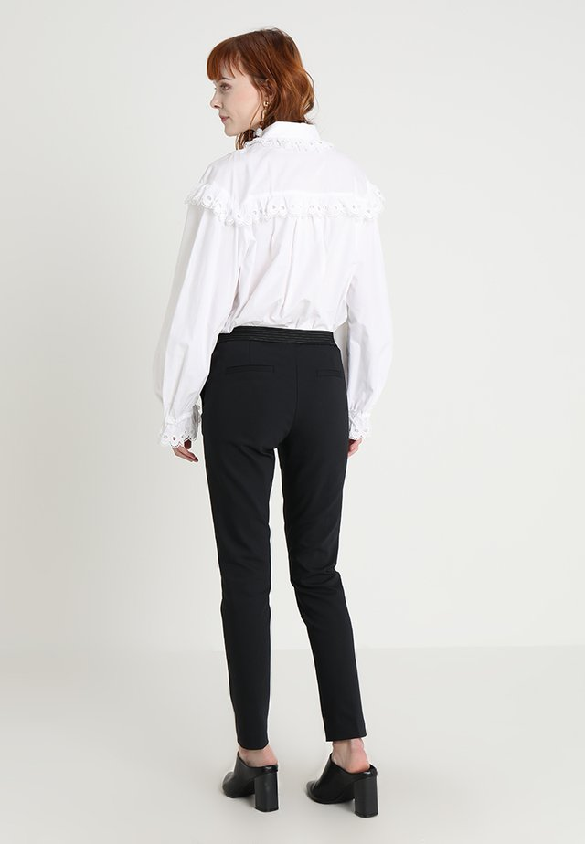 PANTS ELASTIC WAISTBAND - Pantaloni - black