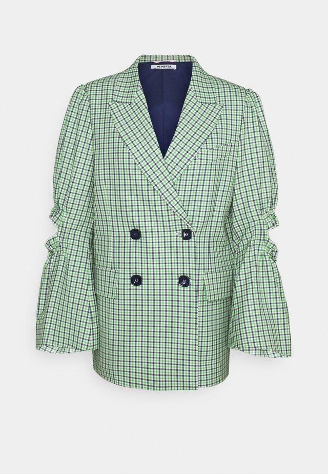 JACKET - Blazer - verde/blu