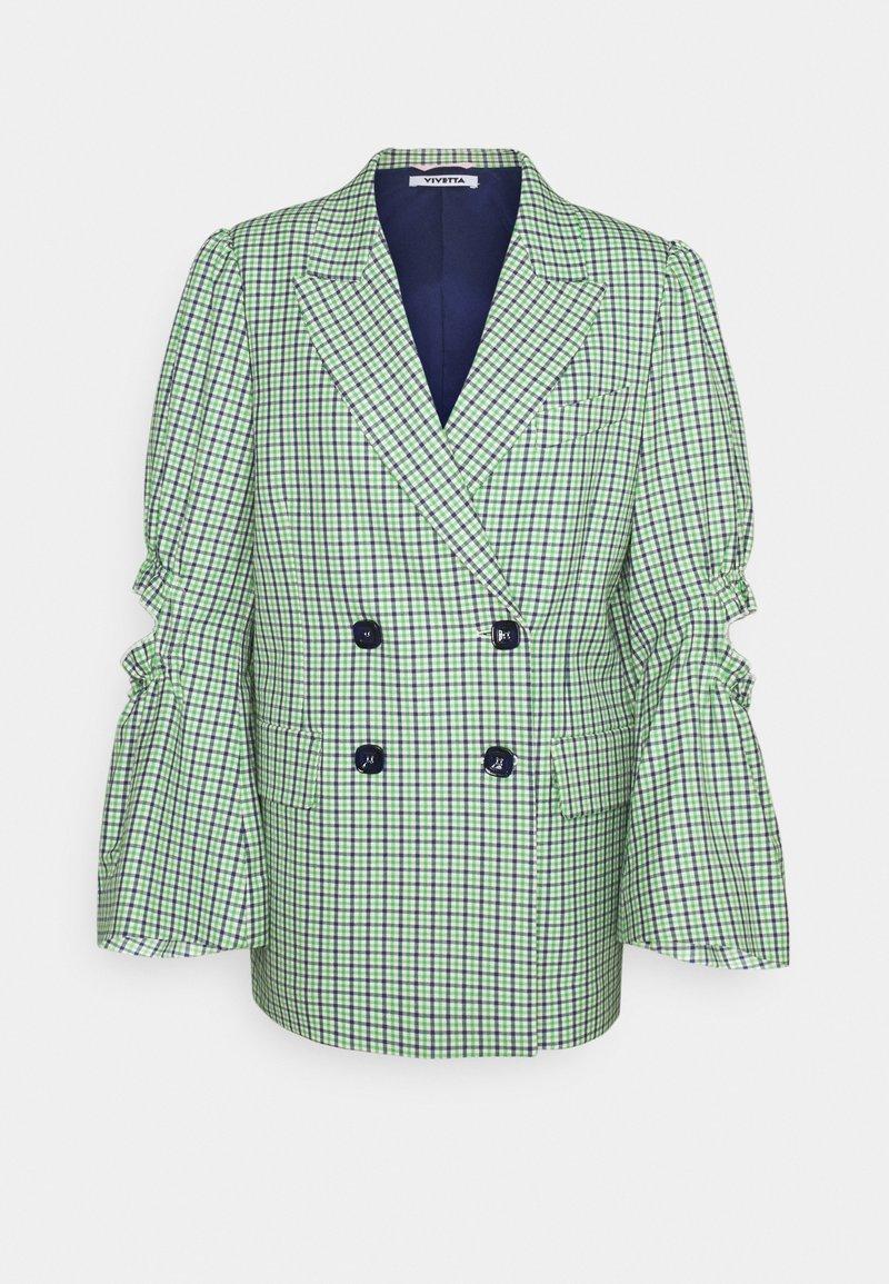 Vivetta - JACKET - Blazer - verde/blu