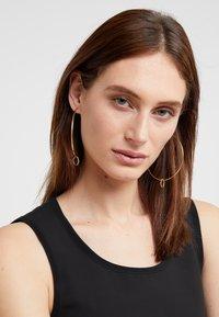 Maria Black - SENORITA HOOP PAIR NOON CHARM - Earrings - gold-coloured - 1