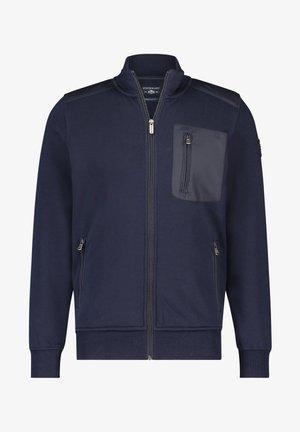 Zip-up hoodie - dark-blue plain