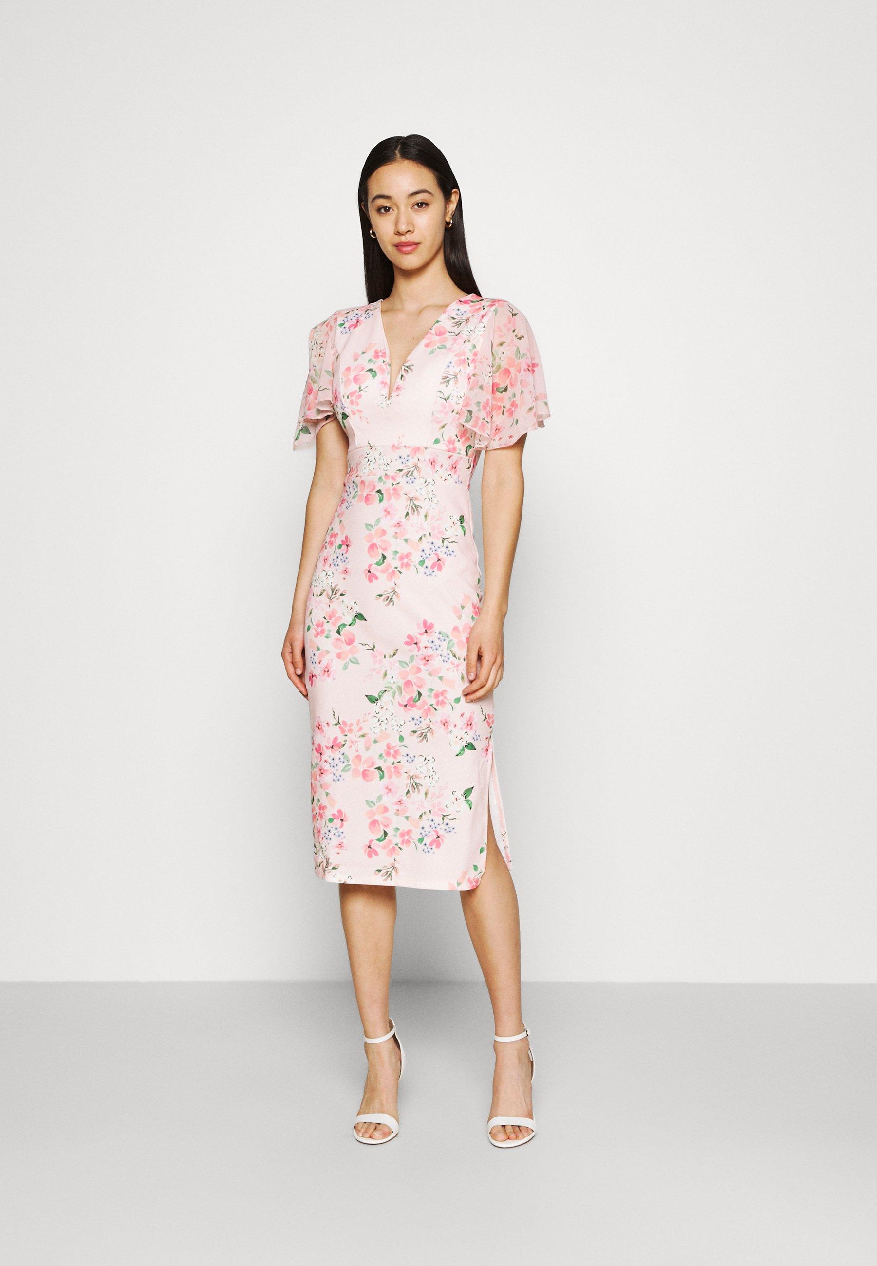 Women SALUD FLORAL PRINT MIDI DRESS - Jersey dress