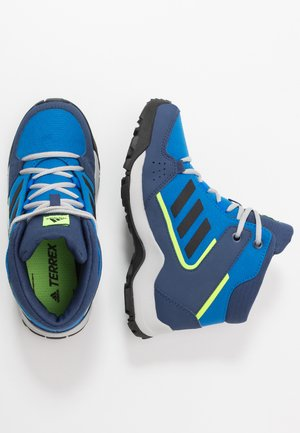 TERREX HYPERHIKER TRAXION HIKING SHOES - Chaussures de marche - glow blue/core black/signal green