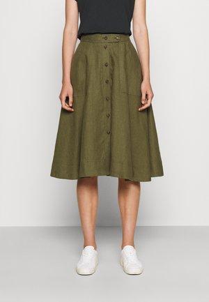 SKIT SKIRT - A-line skirt - basic olive