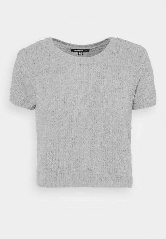 POPCORN - Print T-shirt - grey