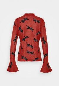 Diane von Furstenberg - BEVERLY SWEATER - Neule - red/black - 8