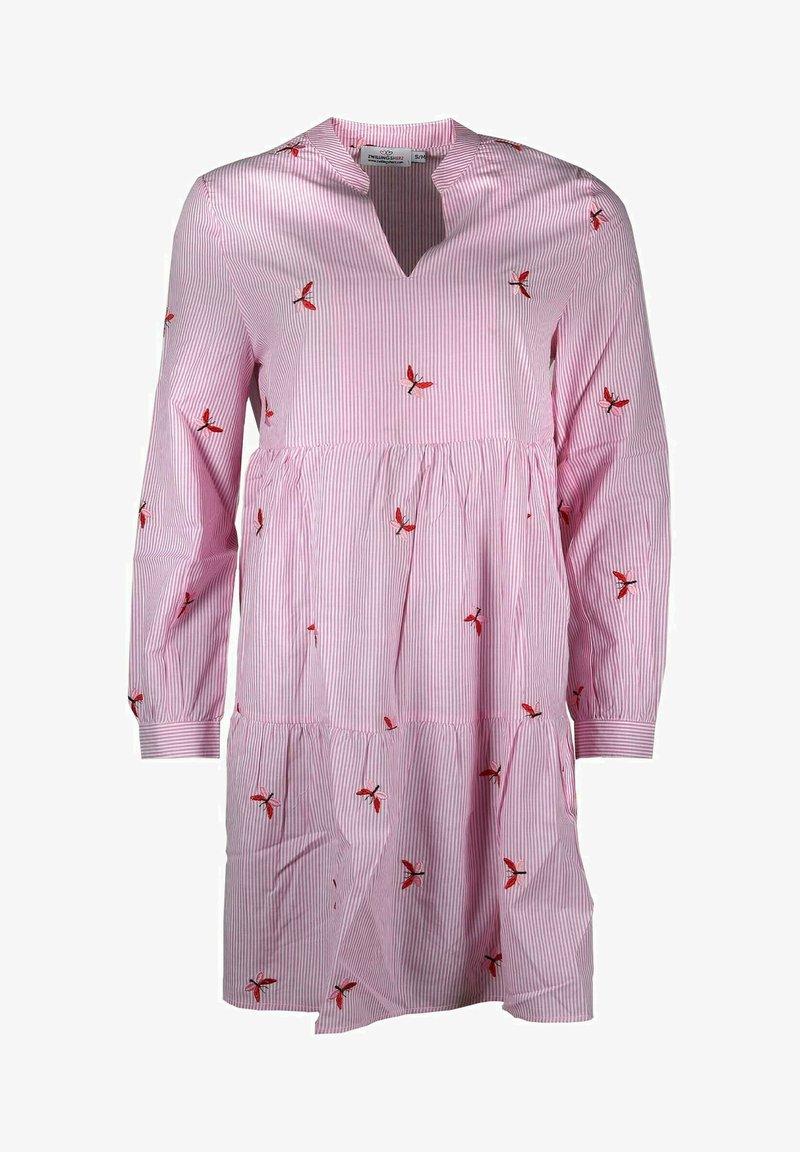 Zwillingsherz - Day dress - rosa/weiß