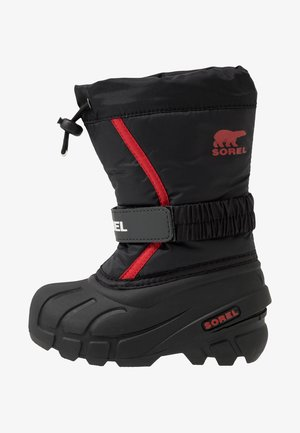 YOUTH FLURRY - Snowboots  - black/bright red